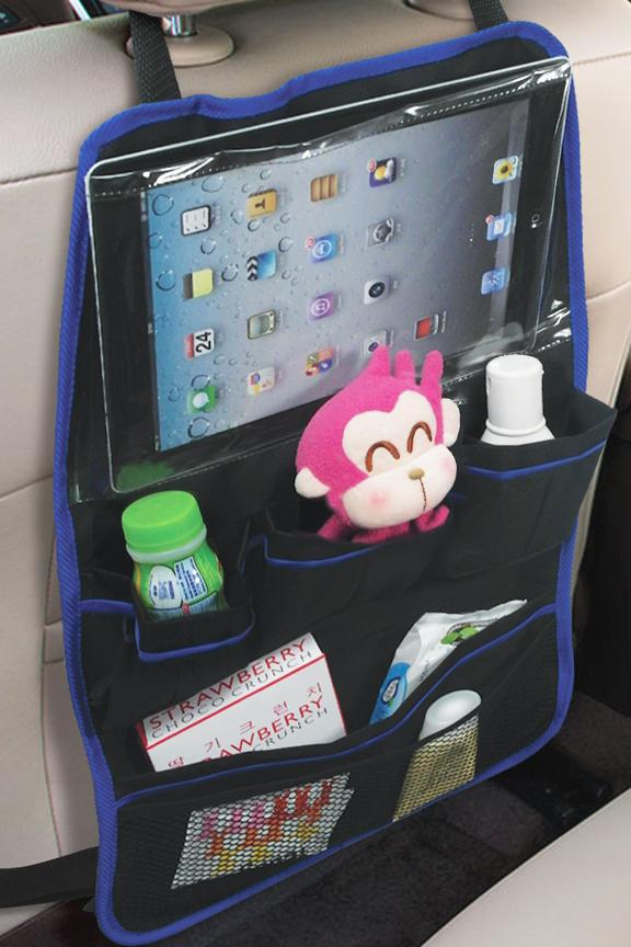 Car Seat Back Organizer With Screen Pocket