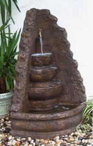 Corner Vineyard Outdoor Water Fountain
