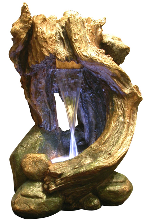 WIN292 Curving Wood Rainforest Fountain