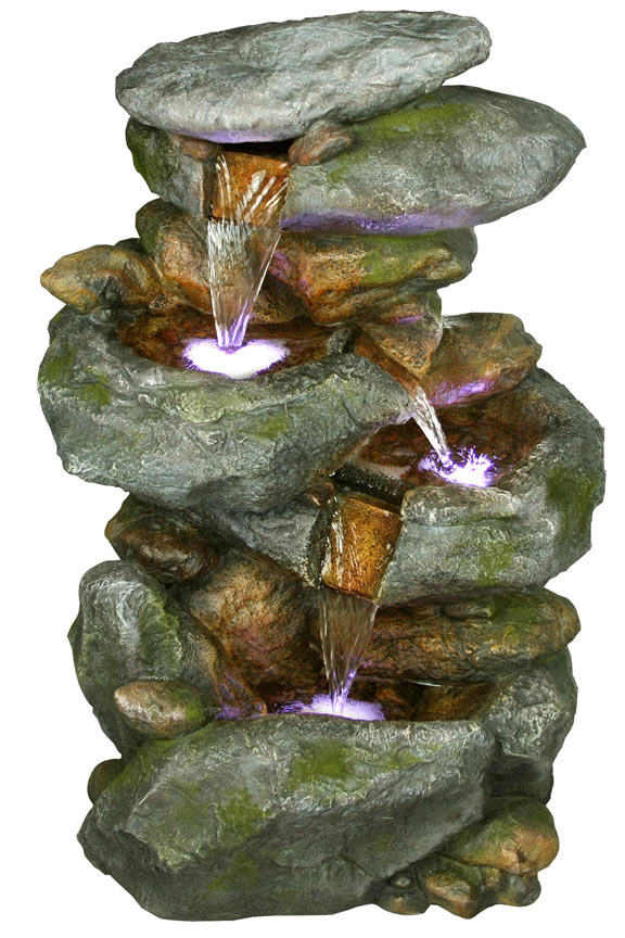 Win582 Rain Forest Rock Waterfall Fountain