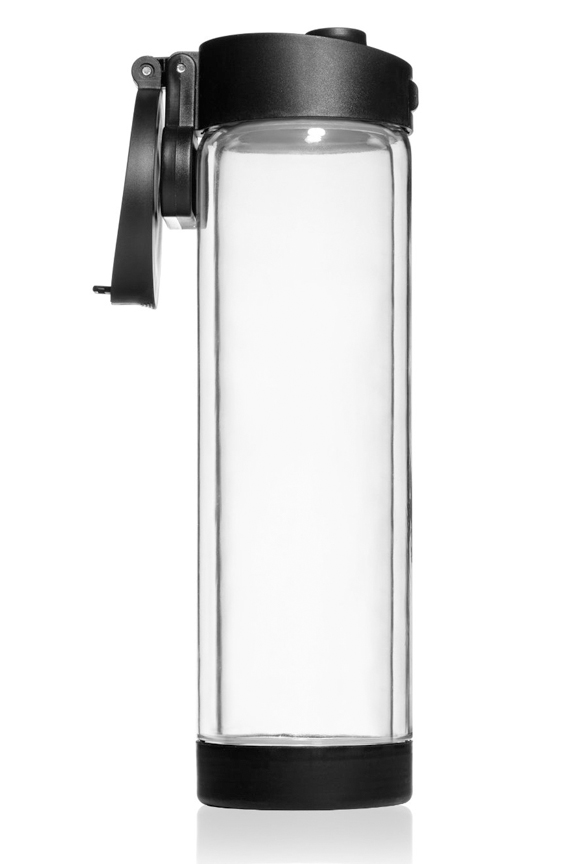 shatterproof glass water bottle with double wall insulation. Black Bedroom Furniture Sets. Home Design Ideas