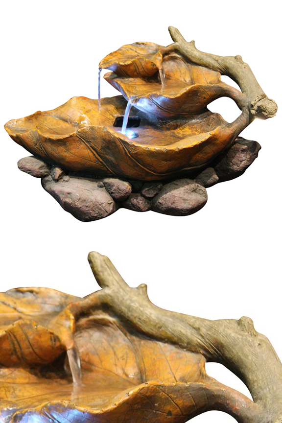 Lighted Leaf Tabletop Fountain - WIN622