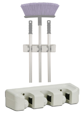 3 slot broom and mop holder - Broom Holder