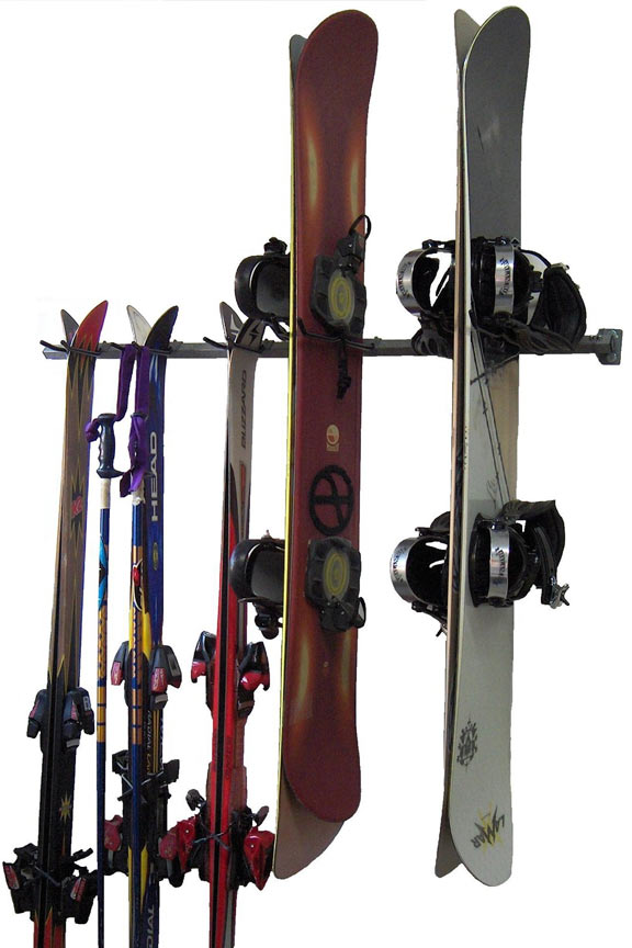 Combination Storage Rack For Skis And Snowboards