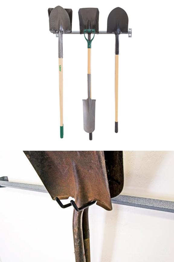 Wall Mounted Shovel Storage Rack