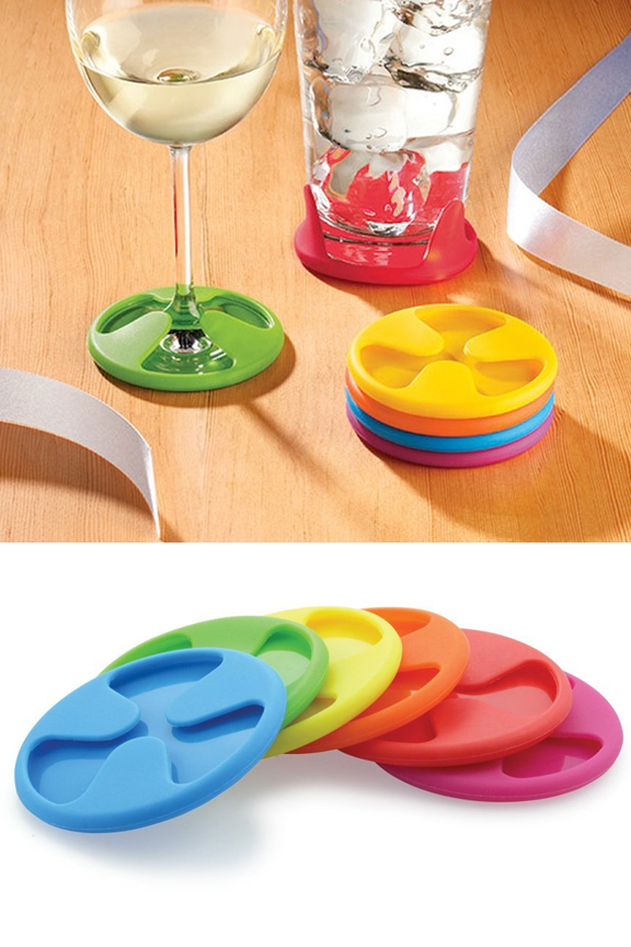 Silicone Grip Coasters Set Of 6