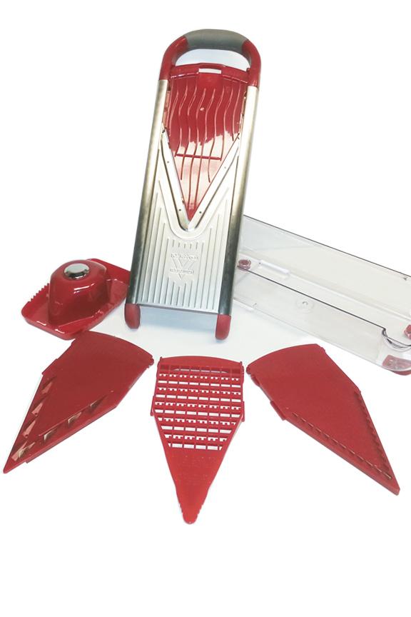 Stainless Steel Mandoline V Slicer 7 Piece Set