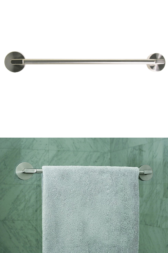 Griipa Stainless Steel Friction Mount Towel Bar - 18 Inches