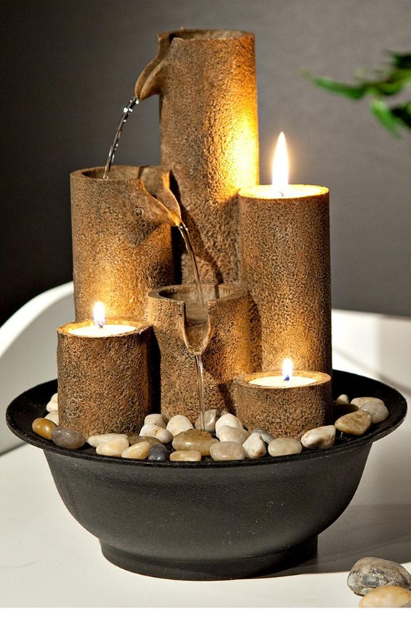 Exceptional WCT202 Three Candles Tabletop Fountain