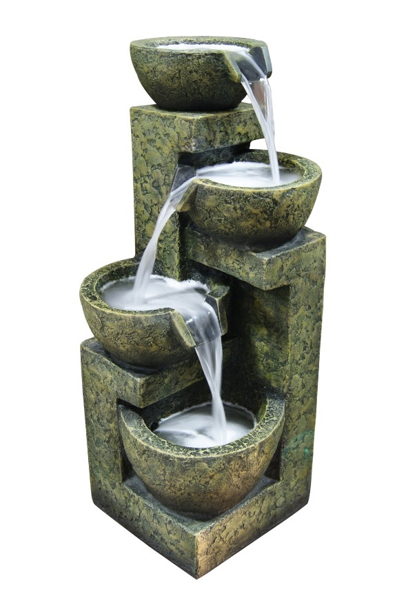 Three Tier Water Fountain With Four Bowls Gil1292