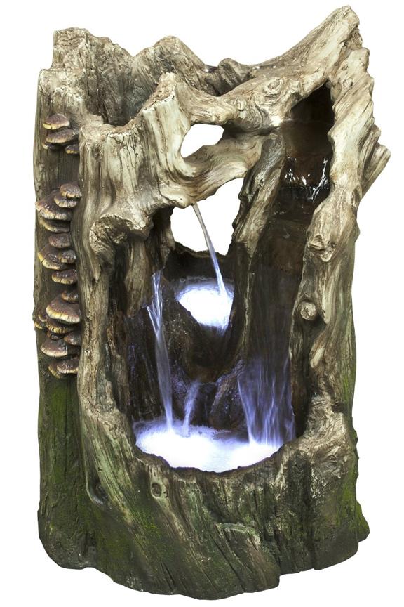Tree Trunk Cascading Waterfall Fountain Win906
