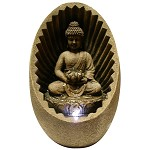 WIN322 Tabletop Buddha Fountain With LED Light