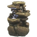 WIN472 Three Tier River Rock Fountain