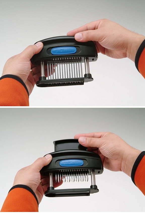 Removable blade for easy cleaning and replacement when necessary.