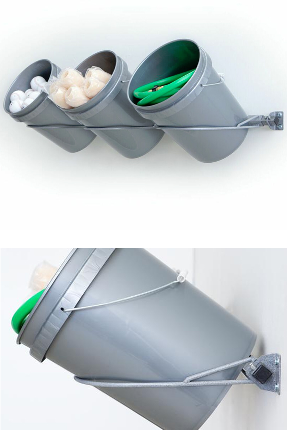 Three Bucket Storage Rack