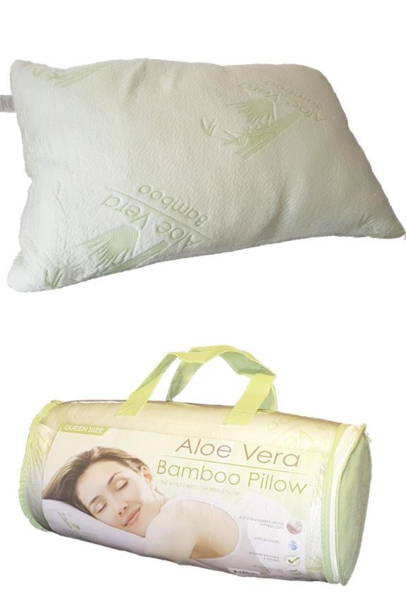 on sale f16e9 d7ffe Aloe Vera and Bamboo Shredded Memory Foam Pillow