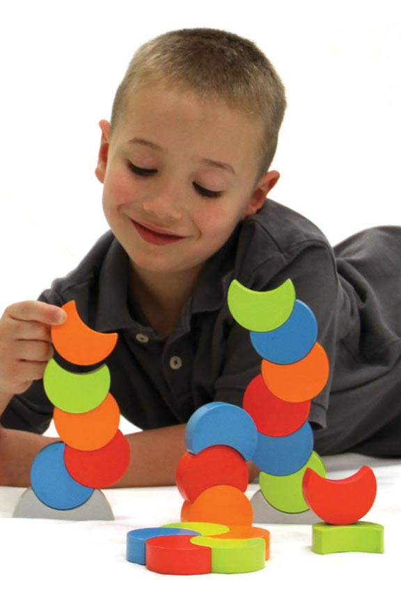 Fun shapes, bright colors and a magnetic grip.