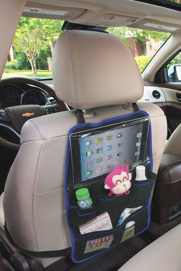 Attach to the back of any car seat.