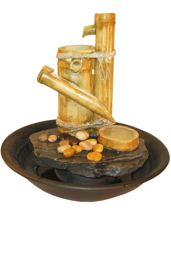 Bamboo Slide Tabletop Fountain