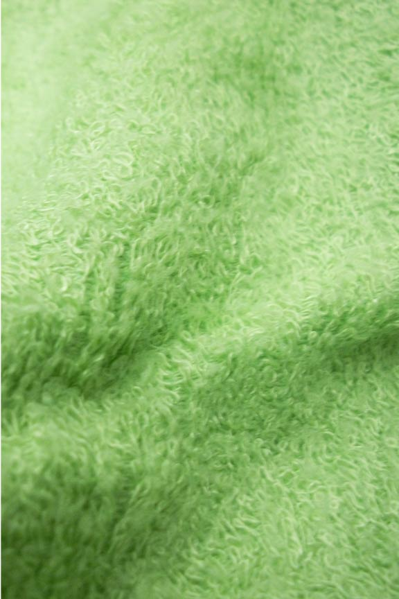 Luxuriously soft material is also super absorbent.