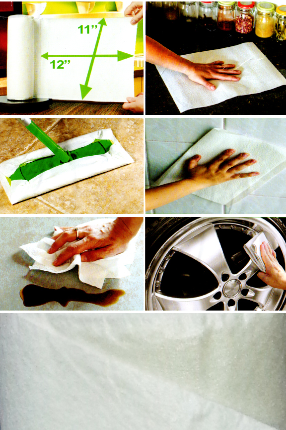100's of uses for this powerful, semi-disposable cloth.