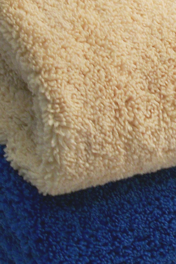 Close up view. Thick fluffy towels.