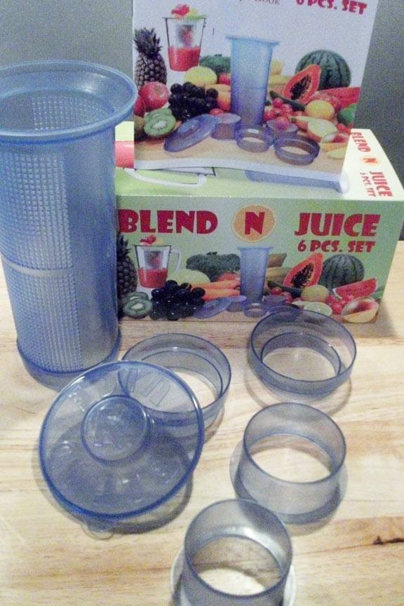 Six piece set includes adapters, lid and instruction book.