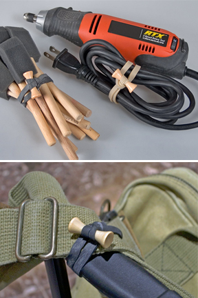 Keep tools and other equipment organized. No more tangles cords.