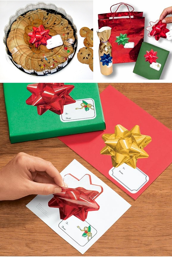 Peel and stick to put the finishing touch on any present.