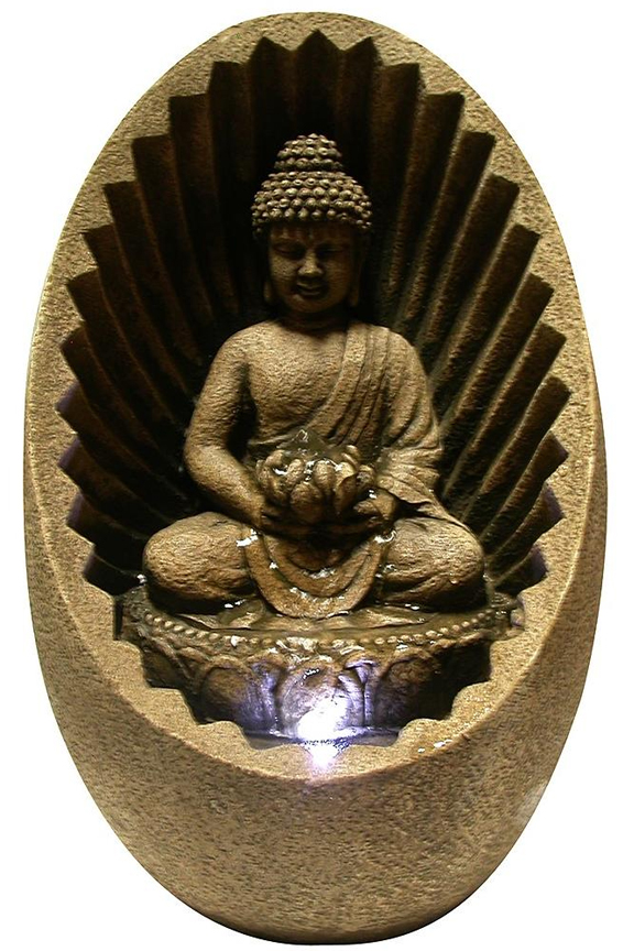 Tabletop Buddha Fountain With LED Light