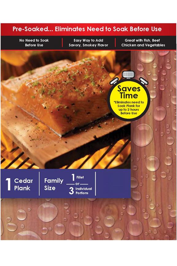 Pre-Soaked Cedar Plank - Ready 2 Grill