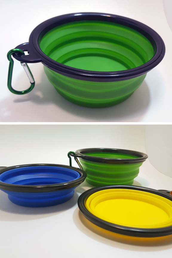 Large capacity bowl has two height options.