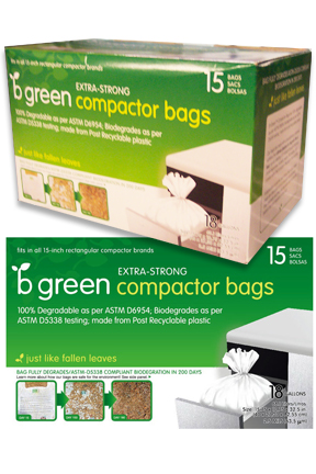 Biodegradable Trash Compactor Bags (15 bags)