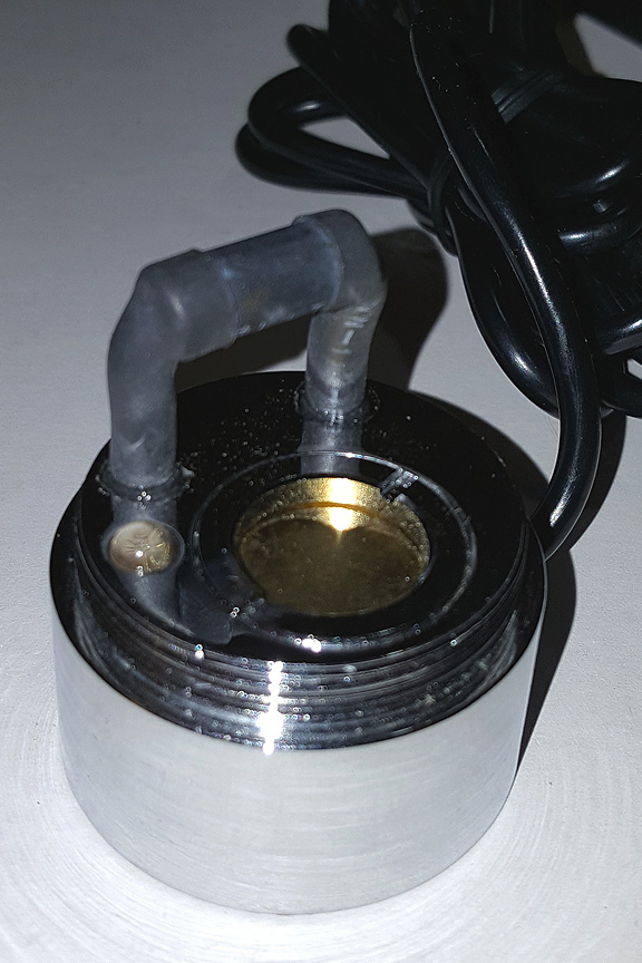Close up view. Mist maker with single LED light.