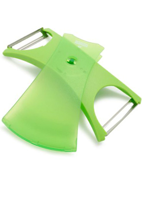 Flip the cover to reveal the peeler you want to use.