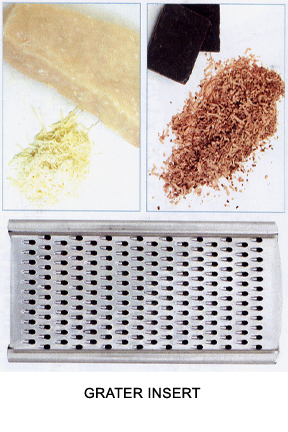Grate hard cheese or chocolate.