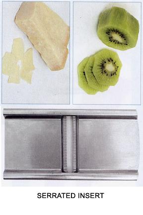 Slice cheese, veggies or fruit.