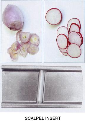 Perform a regular slice on smaller vegetables.