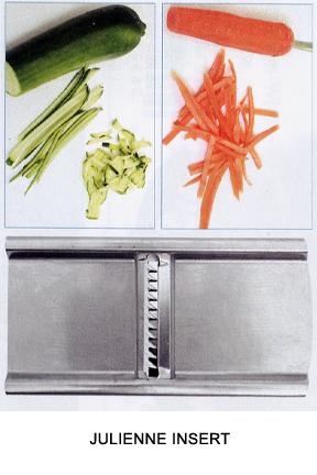 Julienne carrots or zucchini.
