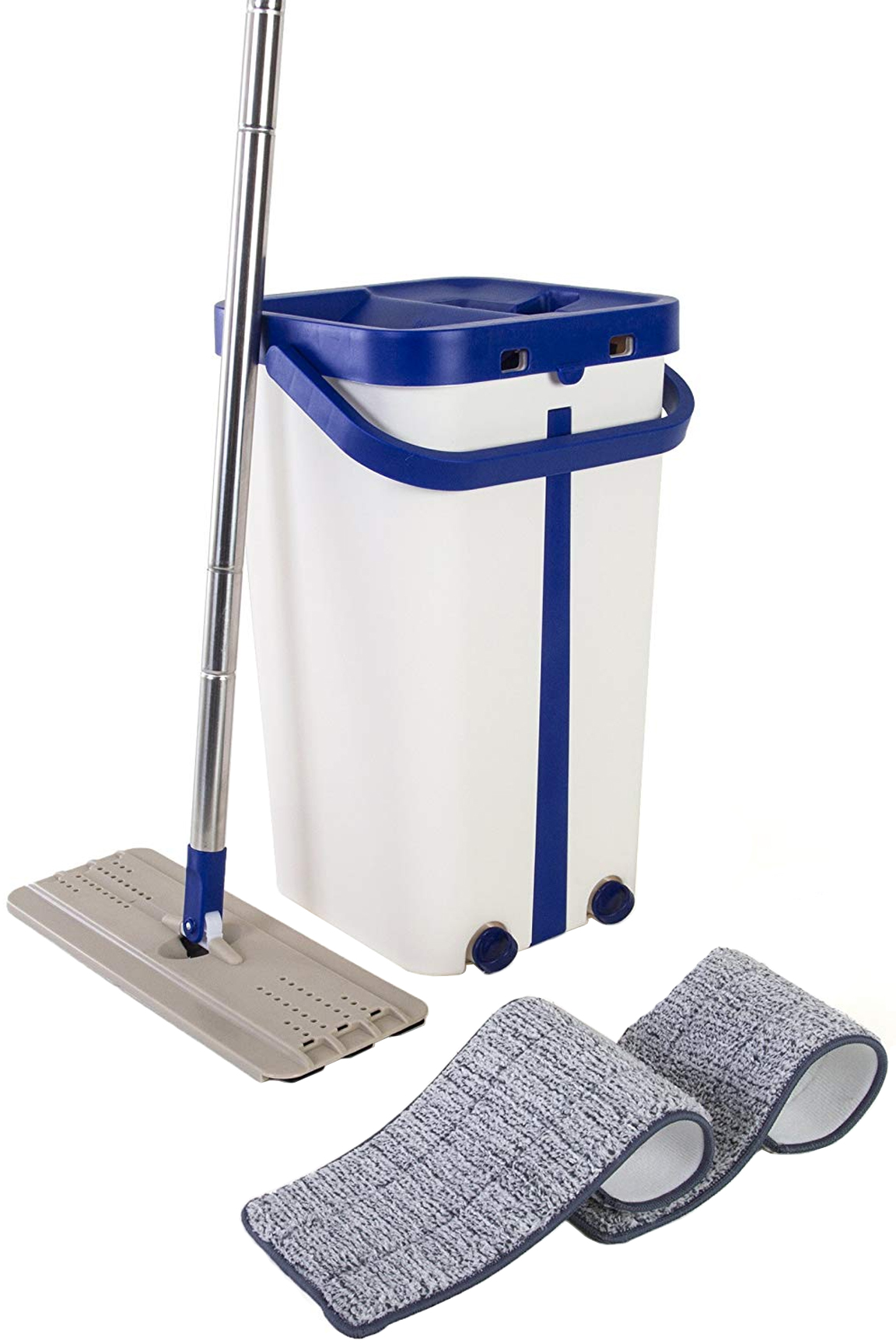 Self-Cleaning Flat Mop And Bucket Set