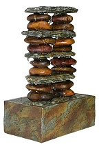 Stacked Rocks Indoor Fountain