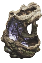 Curved Log Rain Forest Fountain