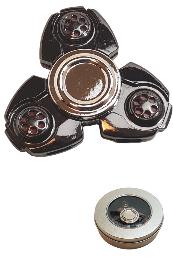 Gray Metal Alloy Fidget Hand Spinner