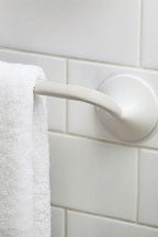 Friction Mount Towel Bar (White)