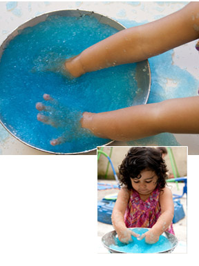 Kids love to touch and play with H2Goo.