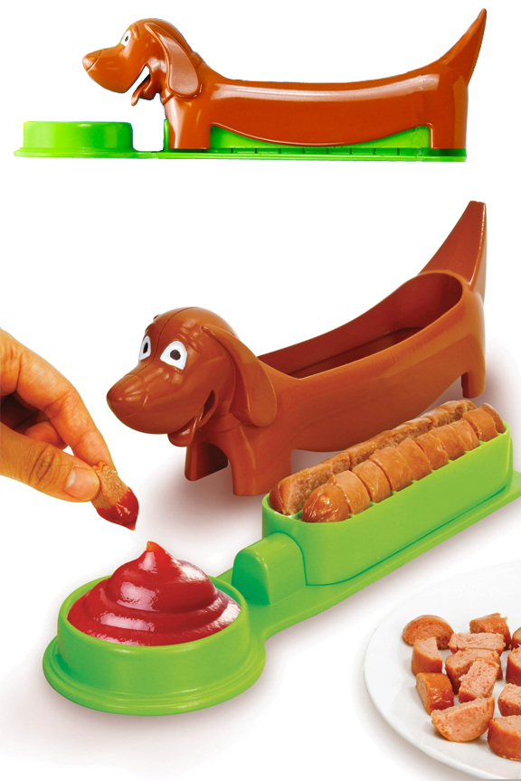Hot Dog Slicer And Serving Tray