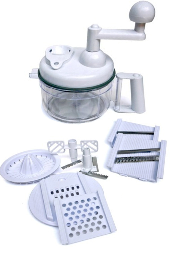 Kitchen Plus Food Chopper. An 8 in 1 Kitchen Miracle.