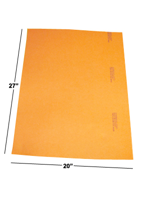 Extra Large 20 in. x 27 in. sheets.