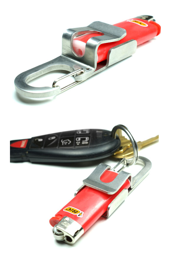 Lighter Holder - Clip anywhere. or attach to your key chain.