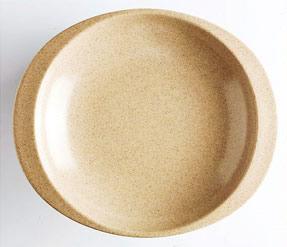 Natural fiber plate for children.